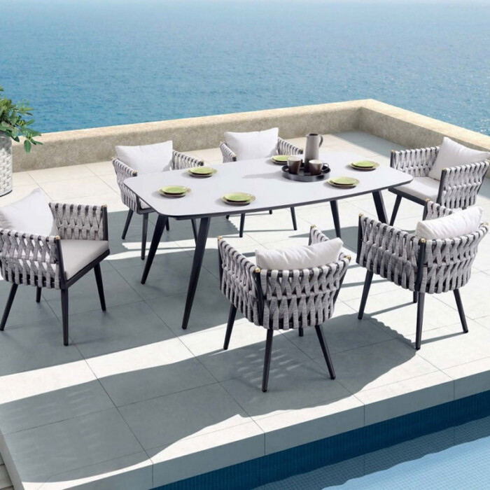 Crown 7 Piece Dining by Indosoul