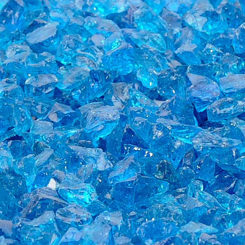recycled fireglass paradise blue