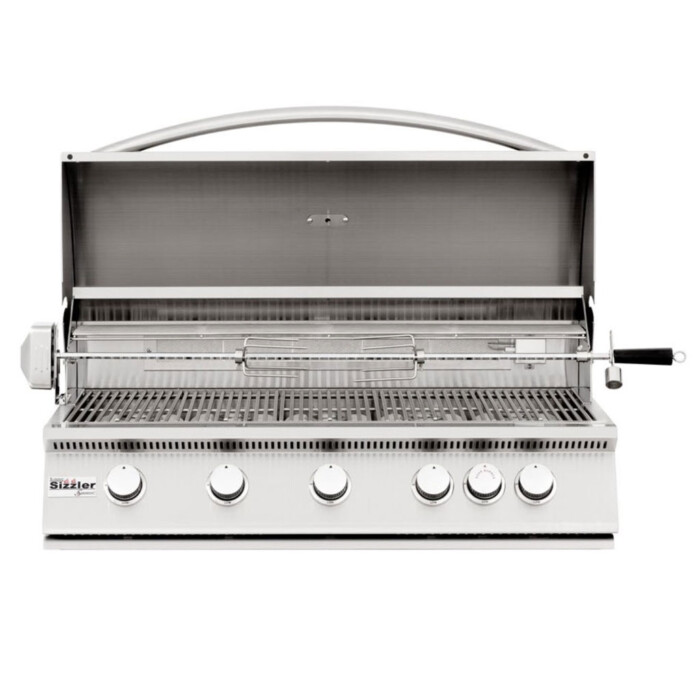 sizzler-40in-gas-grill-open-rotisserie