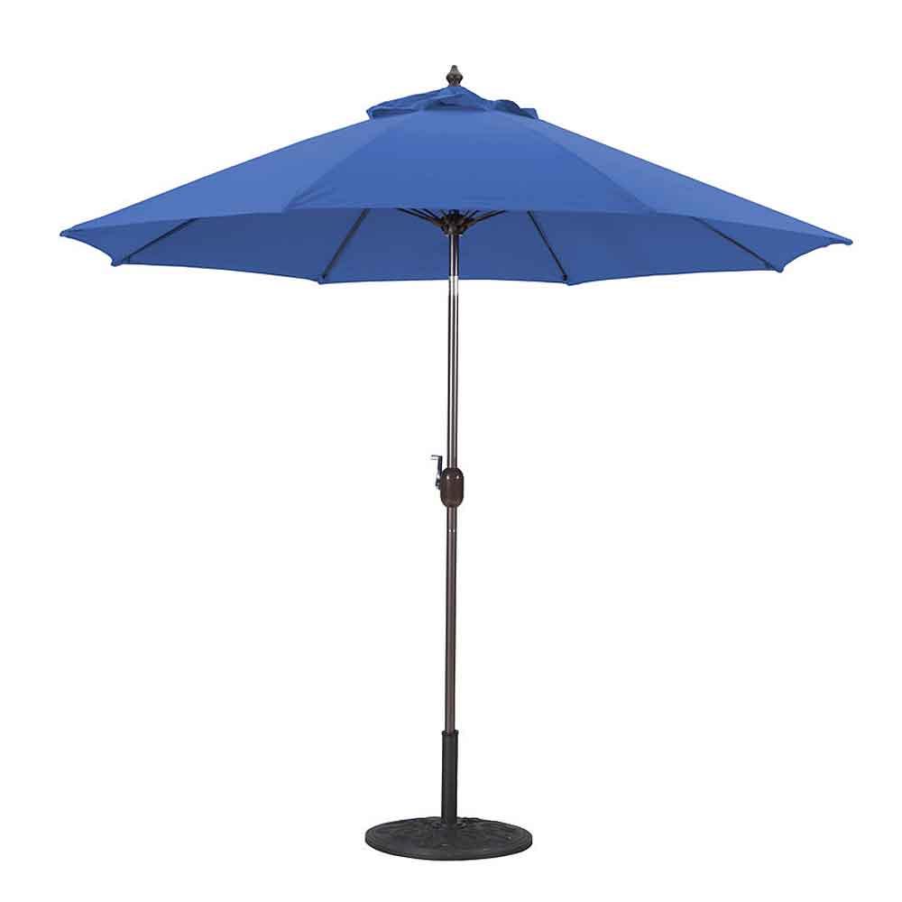 9 Aluminum Manual Tilt Market Umbrella California Patio